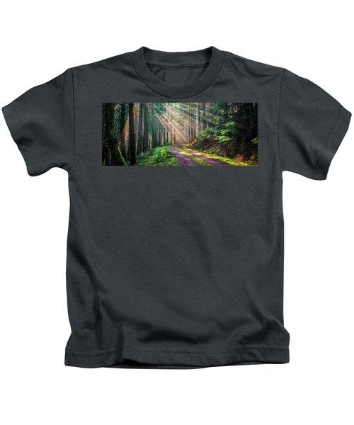 Sunbeams In Trees Kids T-Shirt