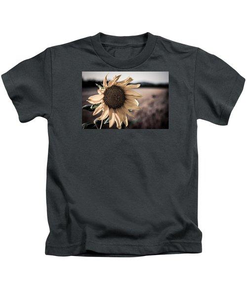 Sunflower Solitude Kids T-Shirt