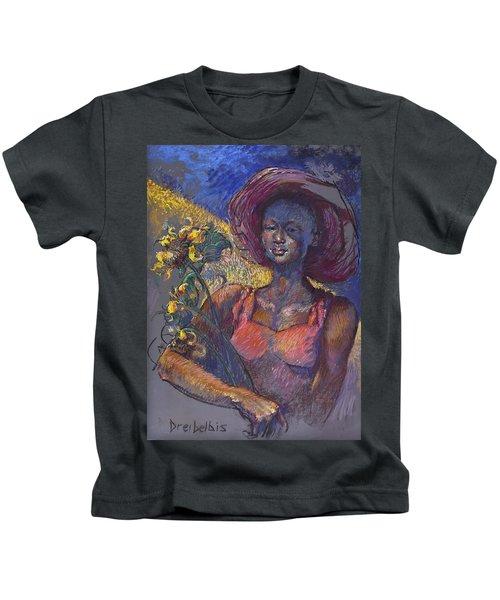 Sunflower Woman Kids T-Shirt