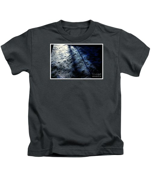 Sunlight Shadows On Ice - Abstract Kids T-Shirt