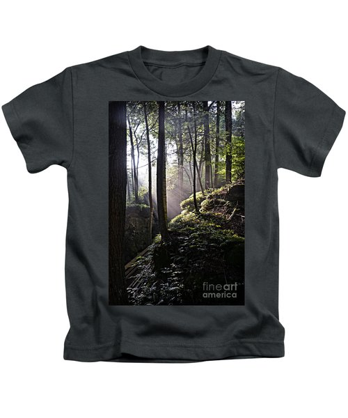 Sunlight Through Trees At Beartown State Park 3129c Kids T-Shirt