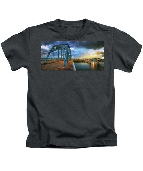 Sunlight Thru Rain Over Chattanooga Kids T-Shirt