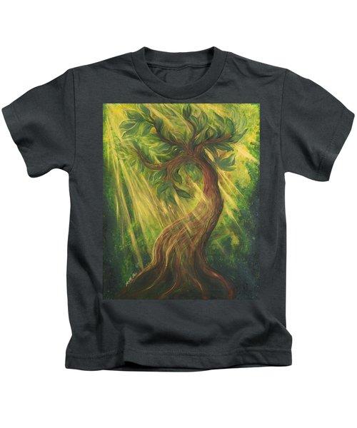 Sunlit Tree Kids T-Shirt