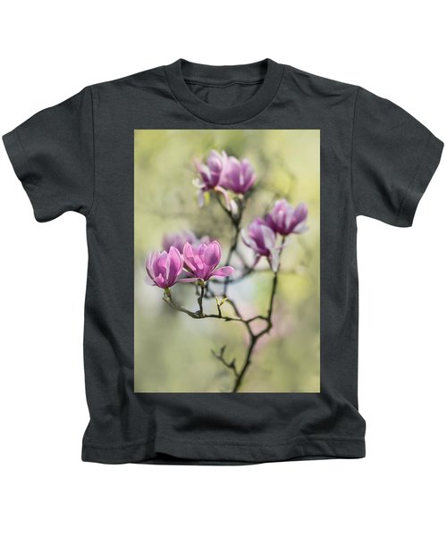 Sunny Impression With Pink Magnolias Kids T-Shirt