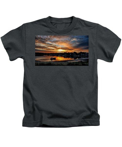 Sunrise At Back Cove Kids T-Shirt