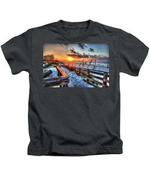 Sunrise At Cotton Bayou  Kids T-Shirt