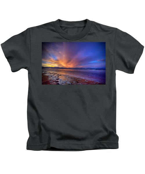 Sunrise At Newborough Kids T-Shirt