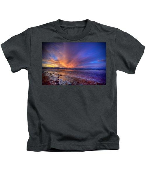 Sunrise At Newborough Kids T-Shirt