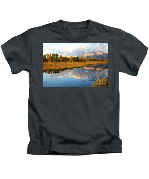 Sunrise On The Grand Tetons Kids T-Shirt