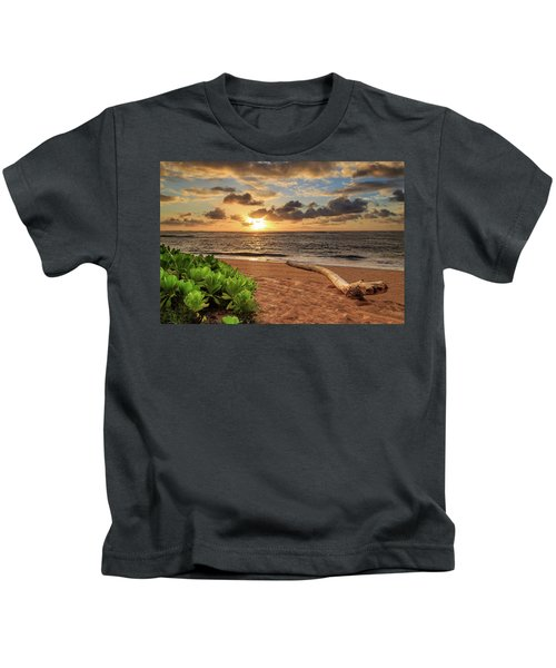 Sunrise In Kapaa Kids T-Shirt