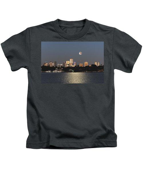 Moonrise Over Miami Kids T-Shirt