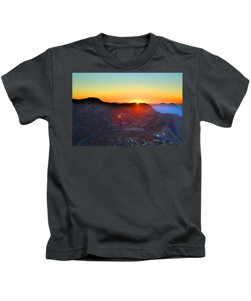 Sunrise Over Mount Oxford Kids T-Shirt