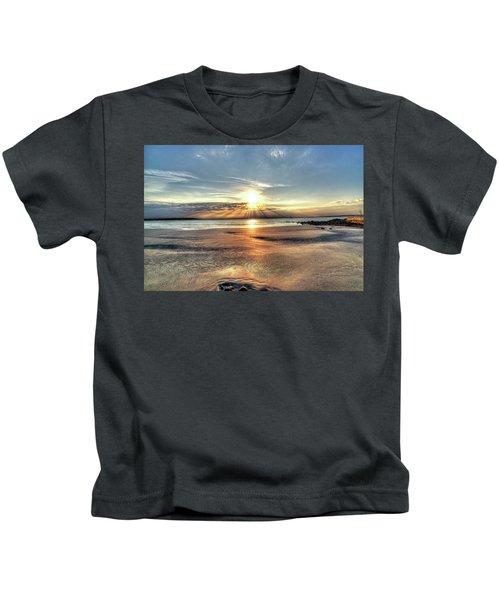Sunrise Over Red Rock Park Lynn Ma Kings Beach Kids T-Shirt