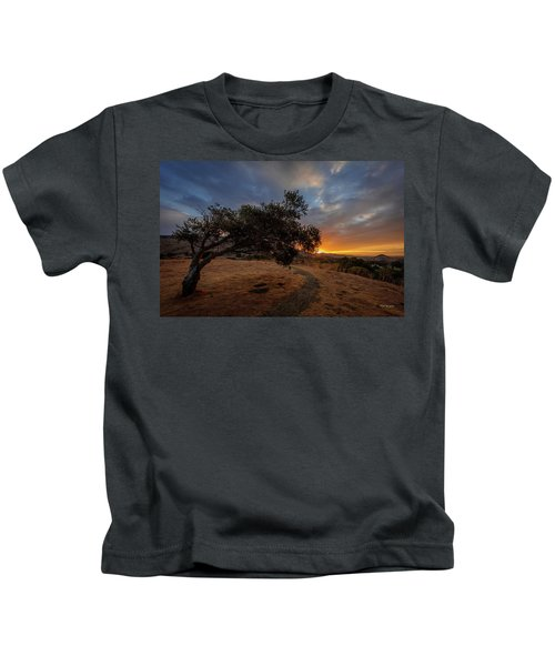 Sunrise Over San Luis Obispo Kids T-Shirt