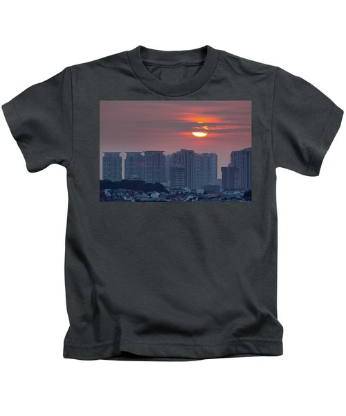 Sunrise Over Singapore Residential Neighborhood Kids T-Shirt