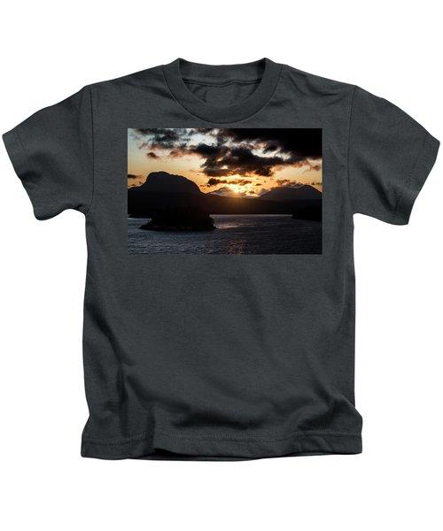Sunrise Over The Inland Passage Kids T-Shirt