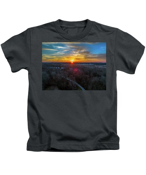 Sunrise Over The Woods Kids T-Shirt