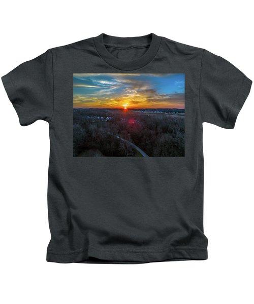 Sunrise Over The Woods Kids T-Shirt
