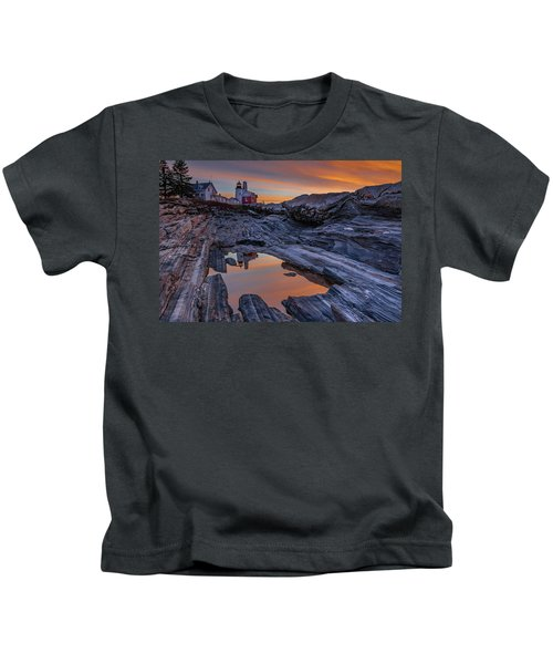 Sunrise Reflections At Pemaquid Point Kids T-Shirt