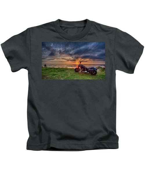 Sunrise Ride Kids T-Shirt
