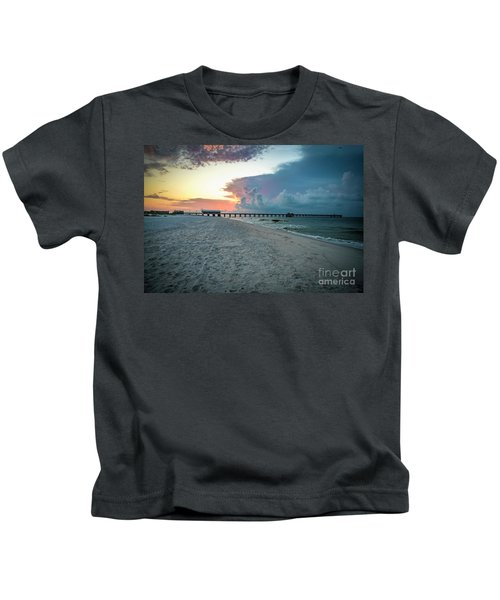 Sunrise Seascape Gulf Shores Al Pier 064a Kids T-Shirt
