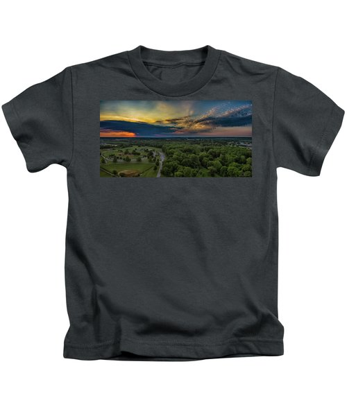 Sunrise Thru The Clouds Kids T-Shirt