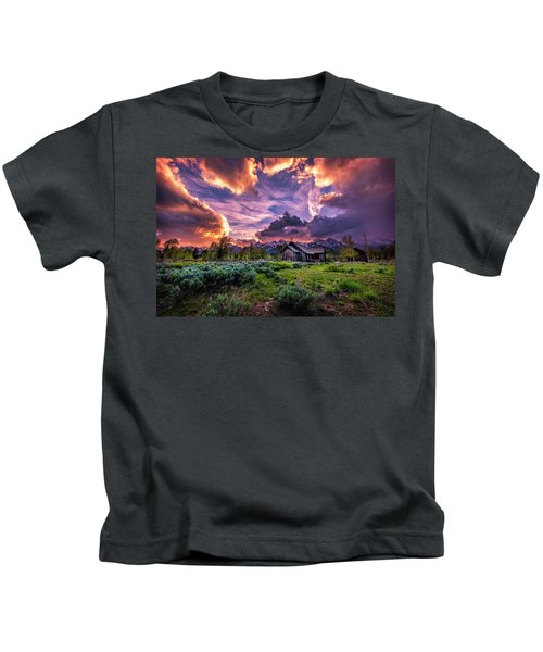 Sunset At Chapel Of Tranquility Kids T-Shirt