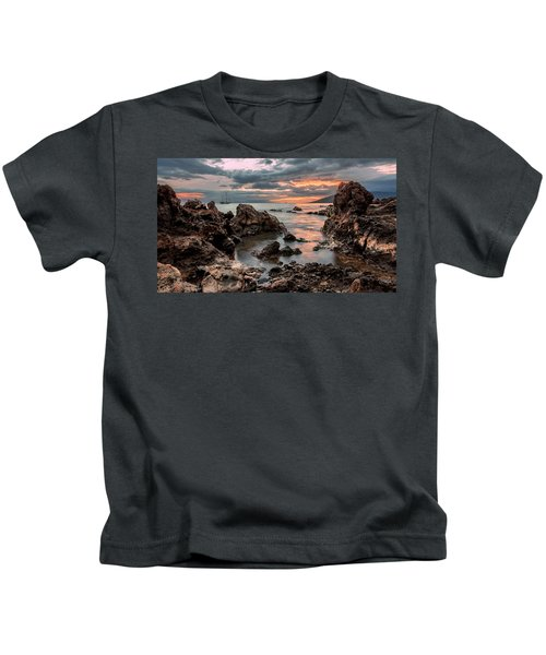 Sunset At Charley Young Beach Kids T-Shirt