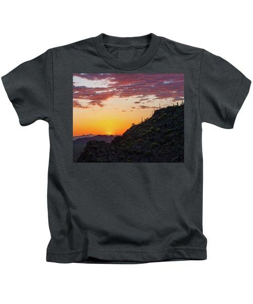Sunset At Gate's Pass Kids T-Shirt