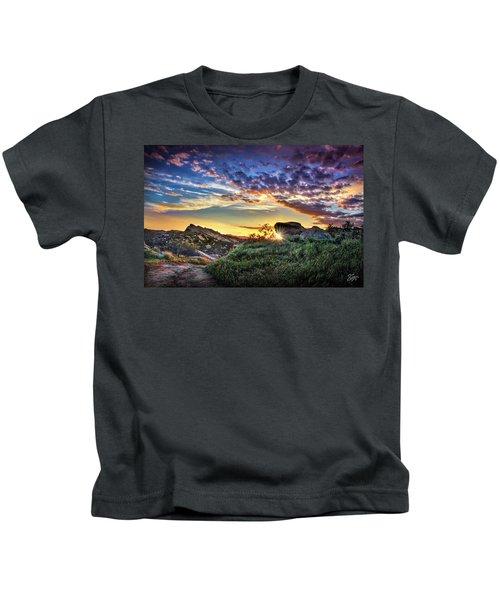 Sunset At Sage Ranch Kids T-Shirt