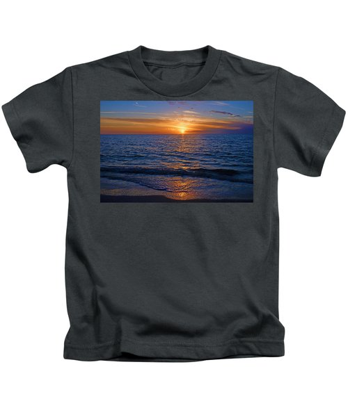 Sunset At The Beach In Naples, Fl Kids T-Shirt
