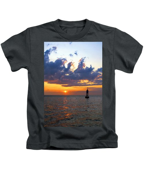 Sunset At The Bell Buoy Kids T-Shirt