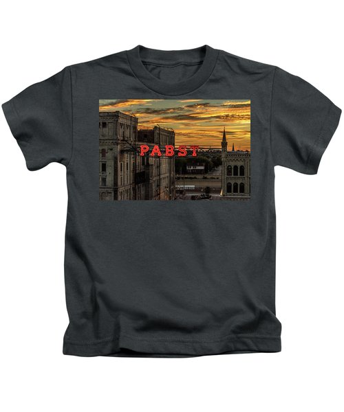 Sunset At The Brewery Kids T-Shirt