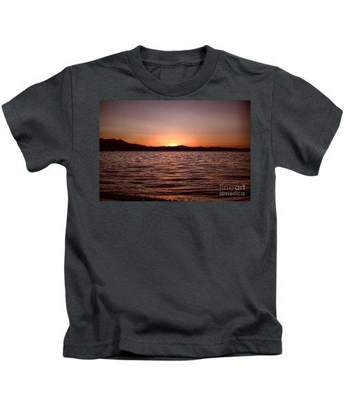 Sunset At The Lake 2 Kids T-Shirt