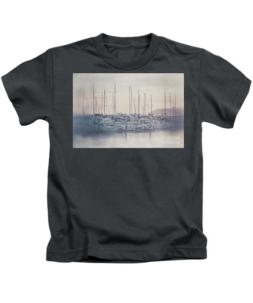 Sunset At The Marina Kids T-Shirt