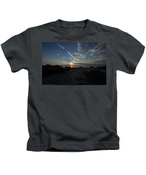 Sunset At Torrey Pines Kids T-Shirt