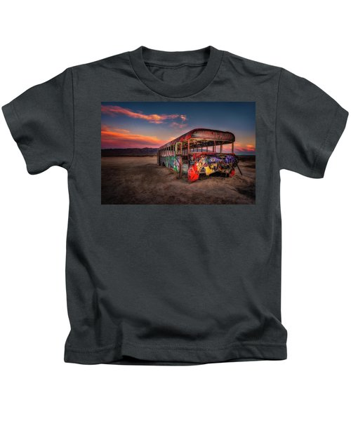 Sunset Bus Tour Kids T-Shirt