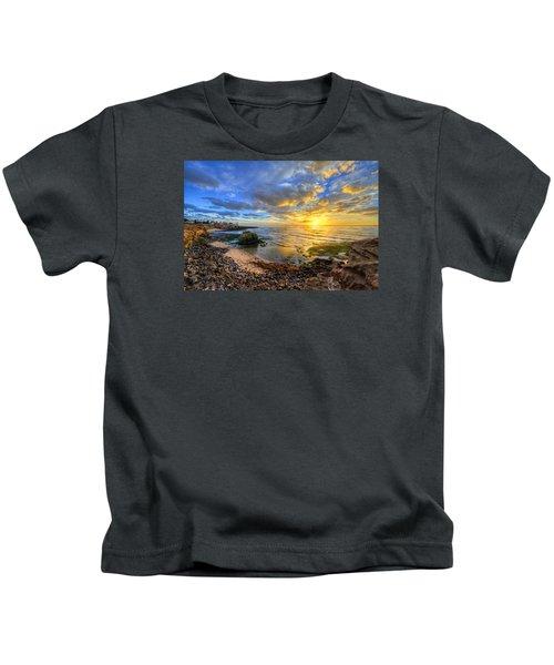 Sunset Cliffs Kids T-Shirt