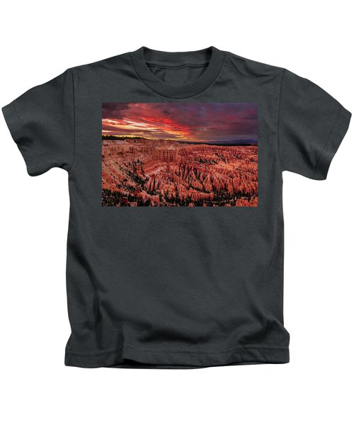 Sunset Clouds Over Bryce Canyon Kids T-Shirt