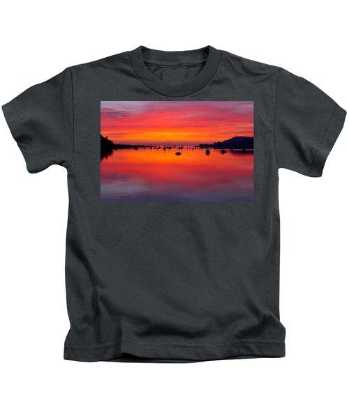 Sunset, Conwy Estuary Kids T-Shirt