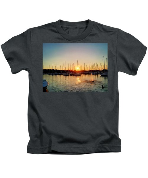 Kids T-Shirt featuring the photograph Sunset Cove 2015 by Chris Montcalmo