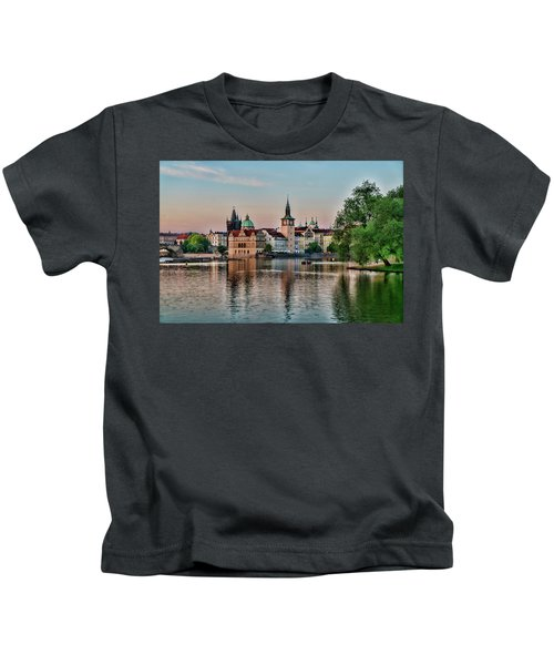 Sunset Cruise Prague Kids T-Shirt
