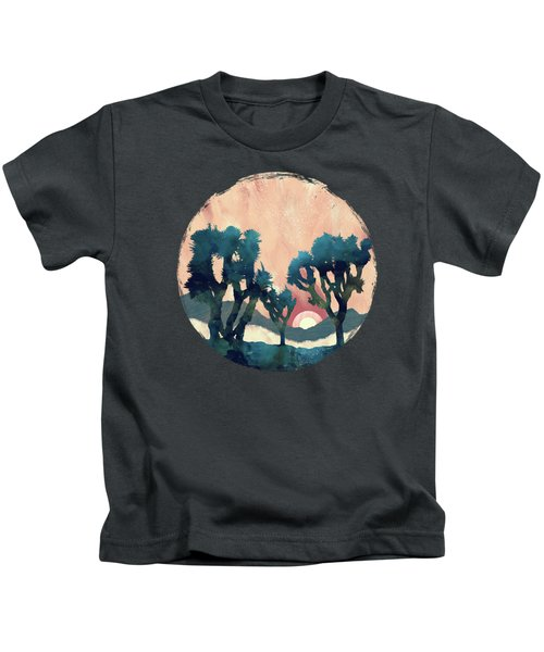 Sunset Desert Canyon Kids T-Shirt
