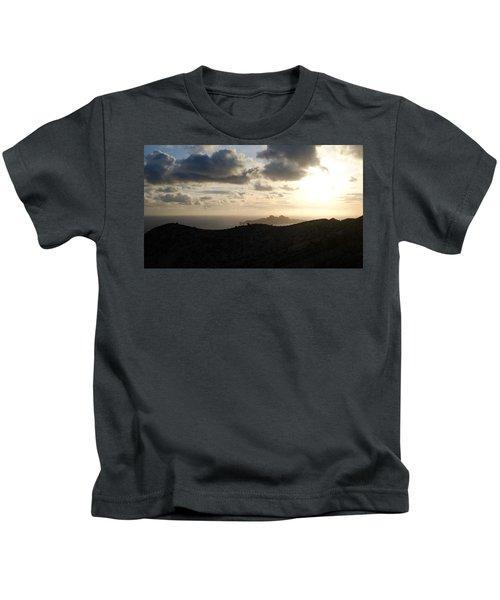 Sunset Dragon Island Kids T-Shirt