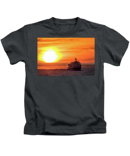 Sunset Ferry Kids T-Shirt