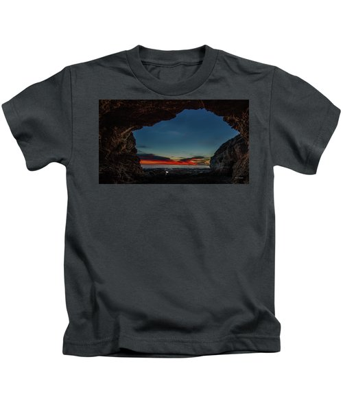 Sunset From Brady's Cave Kids T-Shirt