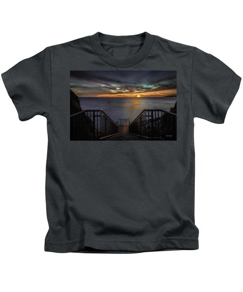 Sunset From Sandpiper Staircase Kids T-Shirt