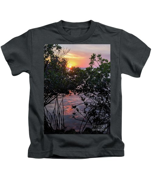 Sunset, Hutchinson Island, Florida  -29188-29191 Kids T-Shirt