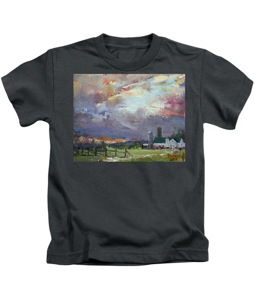 Sunset In A Troubled Weather Kids T-Shirt