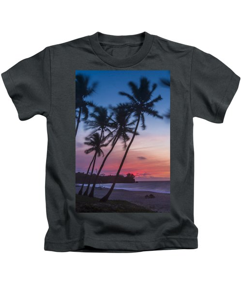 Sunset In Paradise Kids T-Shirt